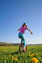 Girl On Unicycle